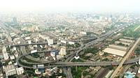 Panorama of Bangkok from Baiyoke Sky Hotel. Thailand