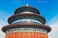Temple of Heaven in Beijin on blue sky background