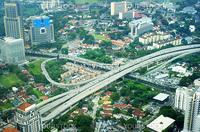 Aeial view of Kuala Lumpur. Malaysia