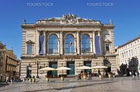 Opera, place de la Com・スdie, City of Montpellier, France.
