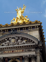 Detail of Opera Garnier in Paris.
