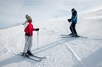 Young skiers on the slope