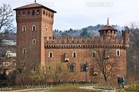 Turin castle, in Valentino park, Piemonte, north Italy