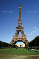 The Eiffel Tower in Paris, France during midday.