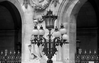Capital of France - Paris. Street lamp near the Grand Opera
