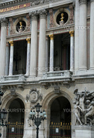 Houses on the streets of the capital of France - Paris. Grand Opera