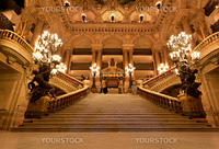 the beautiful interior of grand Opera in Paris France