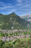 summer view of Morgex, Aosta Valley, Italy