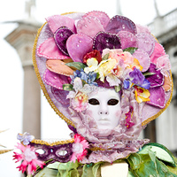 Colorful costume at the Venice Carnival