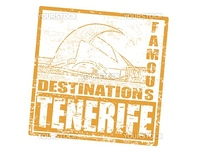 Grunge rubber stamp with the auditorio in Santa Cruz de Tenerife, and word Tenerife inside, vector illustration