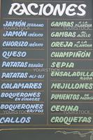 Spanish Menu Board