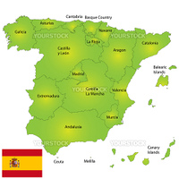 Provincies of Spain detailed map