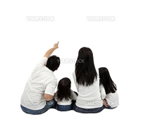 happy family on a white background.Isolated with white background.