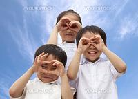three asian kids