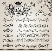 フローラル飾り素材のセット