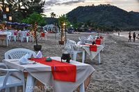 Restaurant Tables in Chaweng Beach, Koh-Samui, Thailand