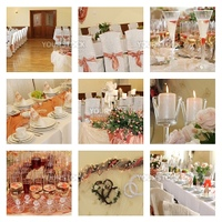 Wedding banquet place ready for guests