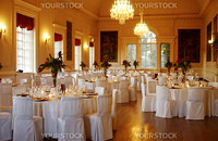 wedding dining room at Hopetoun House