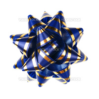 Decorative ornament from tapes. The details of ornaments isolated on a white background