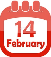 icon of Valentine's Day in a calendar vector illustration