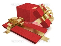 Two gift box. 3D image.