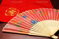 Oriental fan and handkerchief for wedding occasion