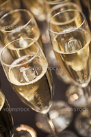 Close up of glasses with Sparkling Champagne