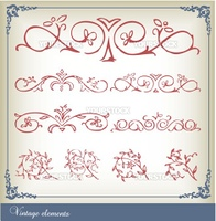 Abstract vintage frame background vector
