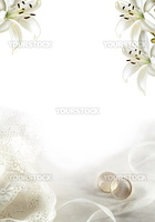 White edding greeting blank