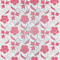 Seamless flower pattern background. EPS10 vector illustration.