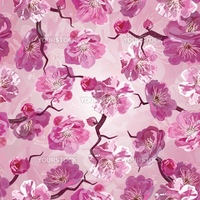 Seamless pattern whith pink flowers. EPS10 vector illustration.