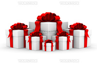 White gift box. Isolated 3D image.