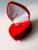 Wedding ring in red case