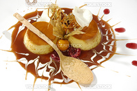 luxurious caramel dessert for the romantic meetings