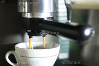 making coffee using espresso machine