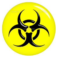 3d biohazard sign isolated in white