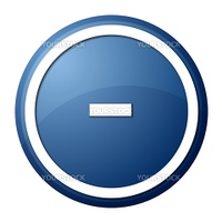 round minus button with white ring for web design and presentation