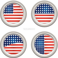 USA Stars and Stripes Buttons Fourth of July