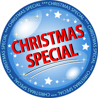 illustration of a christmas special button