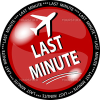 illustration of a red last minute button