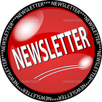 illustration of a red newsletter button