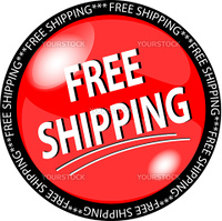 illustration of a red free shipping button