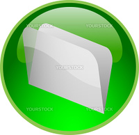 illustration of a green file button