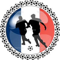 illustration of a soccer button france