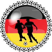 illustration of a soccer button germany