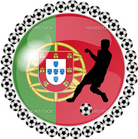 illustration of a soccer button portugal