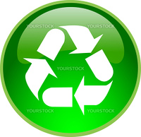 illustration of a green recycling button