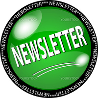 illustration of a green newsletter button