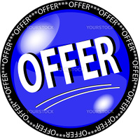 illustration of a blue offer button
