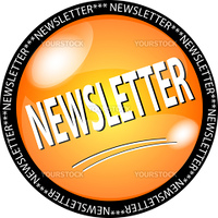 illustration of a yellow newsletter button